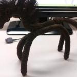 50年前に棕櫚縄で作られた馬の人形